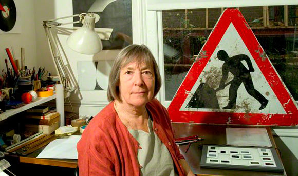 Margaret Calvert, one of the iconic women in graphic design who designed the traffic signs you are familiar with today.